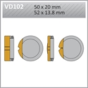 Picture of VD102 VESRAH DISC BRAKE PADS