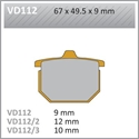 Picture of VD112 VESRAH DISC BRAKE PADS