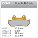 Picture of VD123 VESRAH DISC BRAKE PADS