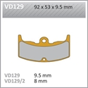 Picture of VD129/2 VESRAH DISC BRAKE PADS CBX550