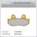 Picture of VD134 VESRAH DISC BRAKE PADS
