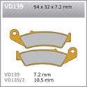 Picture of VD139 VESRAH DISC BRAKE PADS