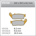 Picture of VD156/2 VESRAH DISC BRAKE PADS