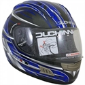 Picture of DUCHINNI D701 - 64 (XXL)  BLUE/SILVER FULL FACE HELMET