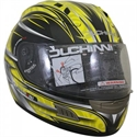 Picture of DUCHINNI D701 - 58 (M) YELLOW/SILVER  FULL FACE HELMET