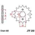 Picture of 259-14 FRONT SPROCKET