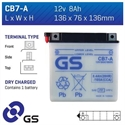 Picture of CB7A GS BATTERY